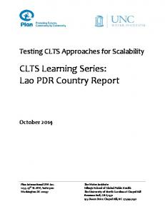 CLTS Learning Series: Lao PDR Country Report