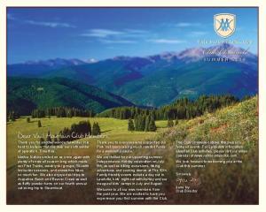 Club Chronicle. Dear Vail Mountain Club Members, SUMMER 2014