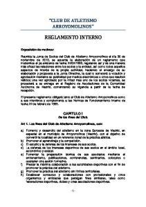CLUB DE ATLETISMO ARROYOMOLINOS REGLAMENTO INTERNO