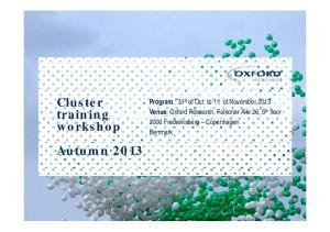 Cluster training workshop Autumn 2013