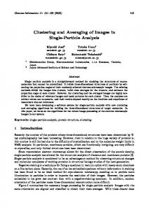Clustering and Averaging of Images in Single-Particle Analysis