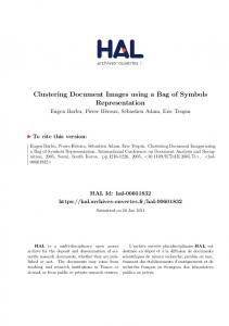 Clustering Document Images using a Bag of Symbols Representation