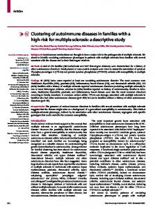 Clustering of autoimmune diseases in families with a high-risk for multiple sclerosis: a descriptive study