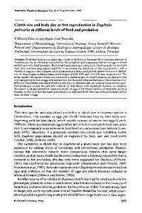 Clutch size and body size at first reproduction in Daphnia pulicaria at different levels of food and predation