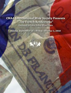 CMAA International Wine Society Presents The French Rendezvous