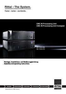 CMC III Processing Unit CMC III Processing Unit Compact