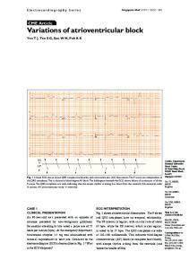CME Article Variations of atrioventricular block