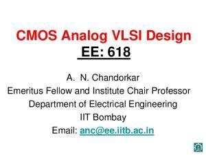 CMOS Analog VLSI Design EE: 618