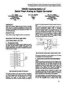 CMOS Implementation of Serial Flash Analog to Digital Converter