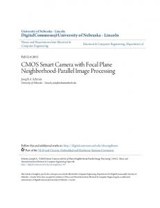 CMOS Smart Camera with Focal Plane Neighborhood-Parallel Image Processing
