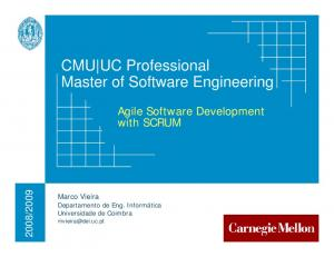 CMU UC Professional Master of Software Engineering