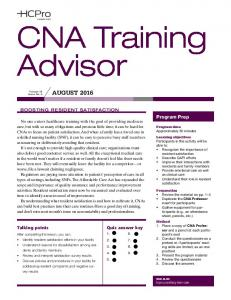 CNA Training Advisor