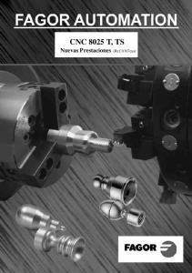 CNC 8025 T, TS Nuevas Prestaciones (Ref. 0107cas)