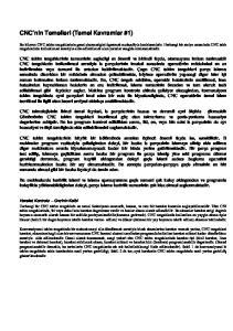 CNC nin Temelleri (Temel Kavramlar #1)
