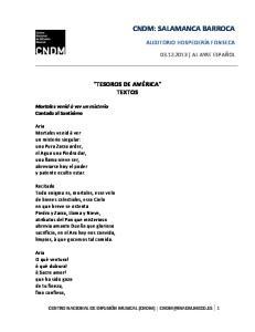 CNDM: SALAMANCA BARROCA