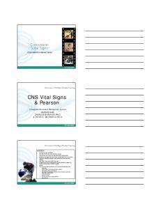CNS Vital Signs & Pearson