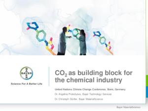 CO 2 as building block for the chemical industry