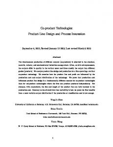 Co-product Technologies: Product Line Design and Process Innovation
