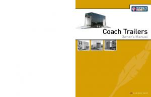 Coach Trailers. Owner s Manual