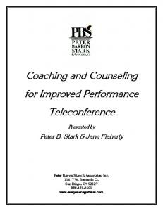 Coaching and Counseling for Improved Performance Teleconference
