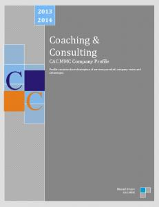 Coaching & Consulting CAC MMC Company Profile