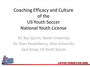 Coaching Efficacy and Culture of the US Youth Soccer National Youth License