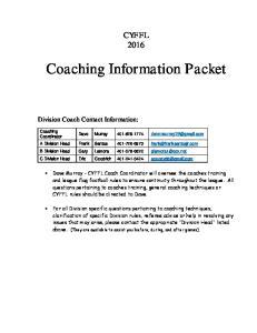 Coaching Information Packet