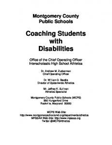 Coaching Students with Disabilities