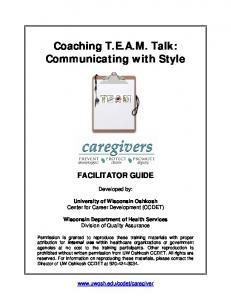 Coaching T.E.A.M. Talk: Communicating with Style