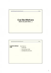 Coal Bed Methane (black coal, green future.)