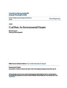Coal Fires: An Environmental Disaster