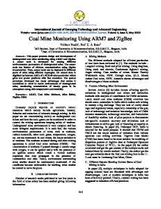 Coal Mine Monitoring Using ARM7 and ZigBee