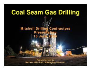 Coal Seam Gas Drilling