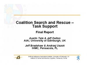 Coalition Search and Rescue Task Support