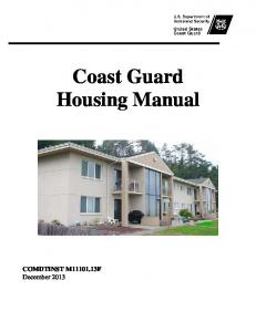 Coast Guard Housing Manual