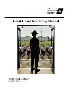 Coast Guard Recruiting Manual