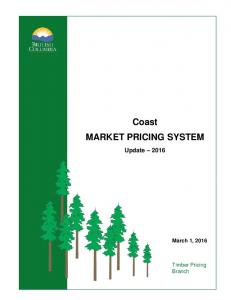 Coast MARKET PRICING SYSTEM