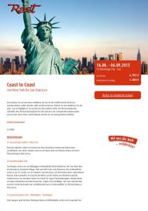 Coast to Coast von New York bis San Francisco