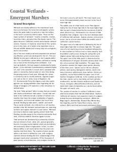 Coastal Wetlands - Emergent Marshes