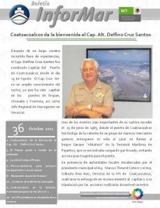 Coatzacoalcos da la bienvenida al Cap. Alt. Delfino Cruz Santos