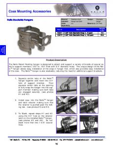 Coax Mounting Accessories
