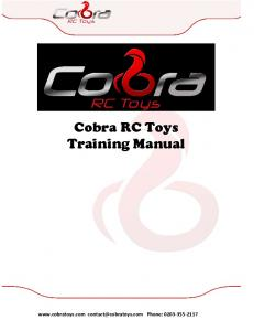 Cobra RC Toys Training Manual