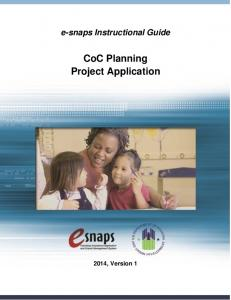 CoC Planning Project Application