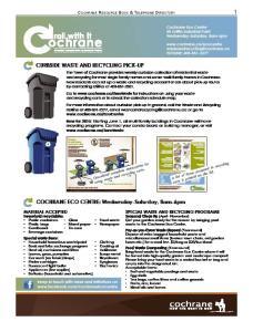 Cochrane Resource Book & Telephone Directory