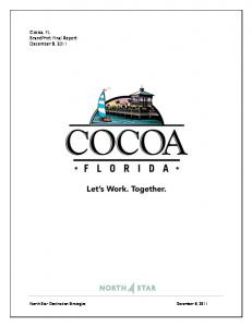 Cocoa, FL BrandPrint Final Report December 8, 2011