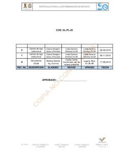 COD. GL-PL-20 APROBADO: