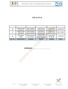 COD. GL-PL-24 APROBADO: