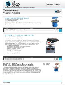 Code Name Price ECCO - ECCO-Vacuum Forming mach 110v US$ Info ECCO - ECCO-Vacuum Forming mach 220v US$ 206
