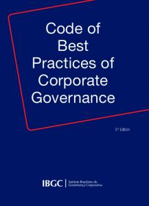 Code of Best Practices of Corporate Governance. 5 th Edition