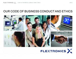 CODE OF BUSINESS CONDUCT AND ETHICS NEXT OUR CODE OF BUSINESS CONDUCT AND ETHICS